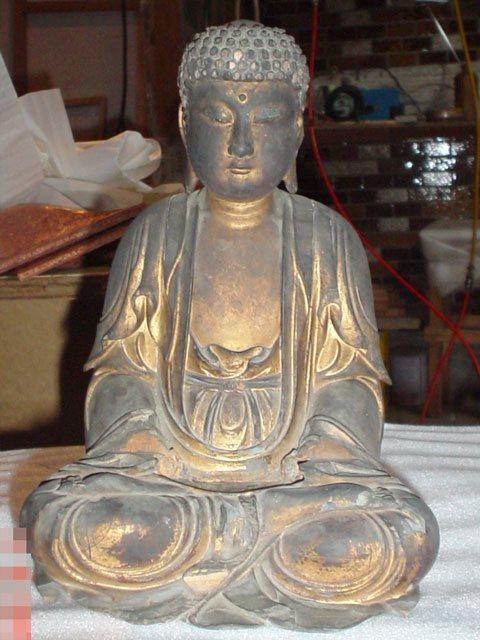 金箔押し仏像修復