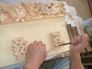 彫刻工程 木彫り