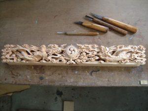 彫刻工程 ランマ完成